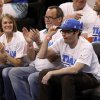 Bill Hader grabs his cap during Game 2 of the NBA Finals between the Oklahoma City Thunder and the Miami Heat at Chesapeake Energy Arena in Oklahoma City, Thursday, June 14, 2012. Photo by Nate Billings, The Oklahoman