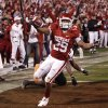 OU\'s Chris Brown scores during the first half of the college football game between the University of Oklahoma Sooners and Texas Tech University at the Gaylord Family -- Oklahoma Memorial Stadium on Saturday, Nov. 22, 2008, in Norman, Okla. BY STEVE SISNEY, THE OKLAHOMAN