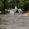 The intersection at Eubanks and N. Francis is flooded. Water bubbles from a access opening in the street. Torrential rain caused flooding in Oklahoma City, Monday, June 14, 2010. by Jim Beckel, The Oklahoman