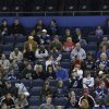 Tampa Bay Lighting fans watch the team during NHL hockey training camp, Friday, Jan. 18, 2013, in Tampa, Fla. The Lightning open their 48-game season against the Washington Capitals on Saturday night. (AP Photo/Chris O\'Meara)