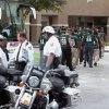 University of South Florida football players arrive for the memorial service held for former Tampa Bay Buccaneers football player and Hall of Famer Lee Roy Selmon at Idlewild Baptist Church in Lutz, Fla. on Friday, Sept. 9, 2011 (AP Photo/The Tampa Tribune, Andy Jones) ST. PETERSBURG OUT; LAKELAND OUT; BRADENTON OUT; MAGS OUT; LOCAL TV OUT; WTSP CH 10 OUT; WFTS CH 28 OUT; WTVT CH 13 OUT; BAYNEWS 9 OUT ORG XMIT: FLTAM202