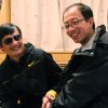 Photo -   In this photo taken in late April, 2012, and provided by Hu Jia, blind Chinese legal activist Chen Guangcheng, left, meets with Hu at an undisclosed location. Chen, an inspirational figure in China's rights movement, slipped away from his well-guarded rural village on Sunday night, April 22, 2012, and made it to a secret location in Beijing on Friday, April 27, setting off a frantic police search for him and those who helped him, activists said. (AP Photo/Courtesy of Hu Jia)