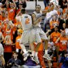 Oklahoma State\'s Keiton Page (12) and Markel Brown (22) celebrate during an NCAA college basketball game between Oklahoma State University (OSU) and the University of Texas (UT) at Gallagher-Iba Arena in Stillwater, Okla., Saturday, Feb. 18, 2012. Oklahoma State won 90-78. Photo by Bryan Terry, The Oklahoman