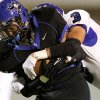 Deer Creek\'s Kyle Kanady tackles Southeast\'s Zachary Guesses during their high school football game at C.B. Speegle Stadium in south Oklahoma City on Thursday, September 29, 2011. Photo by John Clanton, The Oklahoman
