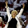 Oklahoma Sooners head coach Sherri Coale reacts to team play in the second half as the University of Oklahoma Sooners (OU) defeat the University of Texas (UT) Longhorns 69-56 on her birthday in NCAA, women\'s college basketball at The Lloyd Noble Center on Saturday, Jan. 19, 2013 in Norman, Okla. Photo by Steve Sisney, The Oklahoman