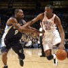 Oklahoma City\'s Kevin Durant (35) drives past Memphis\' Tony Allen during the NBA basketball game between the Oklahoma City Thunder and the Memphis Grizzlies, Saturday, Jan. 8, 2011, at the Oklahoma City Arena. Photo by Sarah Phipps, The Oklahoman