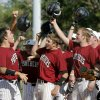 Putnam City North\'s Barry Bridges, left, celebrates after hitting a home run in the second inning of their 6A baseball regional against Midwest City High School in Midwest City, Okla., Friday, May 3, 2008. BY BRYAN TERRY, THE OKLAHOMAN