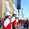 Drummers from the Yukon High School marching band perform during the Czech Festival parade Saturday in Yukon. Photo by Hugh Scott, for the Oklahoman