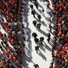OSU players enter the stadium during the Spirit Walk before a college football game between the Oklahoma State University Cowboys (OSU) and the Baylor University Bears (BU) at Boone Pickens Stadium in Stillwater, Okla., Saturday, Oct. 29, 2011. Photo by Sarah Phipps, The Oklahoman