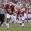 Oklahoma\'s Justin Brown (19) runs on a long return during the college football game between the University of Oklahoma Sooners (OU) and Florida A&M Rattlers at Gaylord Family—Oklahoma Memorial Stadium in Norman, Okla., Saturday, Sept. 8, 2012. Photo by Bryan Terry, The Oklahoman