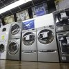 Photo - In this Tuesday, Jan. 8, 2013 photo,  washers and dryers are displayed at an Aggressive Appliances store in Orlando, Fla. Orders for U.S. factory goods that signal business investment plans jumped in January by the most in more than a year, suggesting companies are confident about their business prospects. The Commerce Department said Wednesday, Feb. 27, 2013,  that orders for so-called core capital goods, which include industrial machinery, construction equipment and computers, rose 6.3 percent in January from December. A sharp fall in demand for commercial aircraft caused overall durable goods orders to drop 5.2 percent, the first decline since August. (AP Photo/John Raoux)