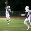 Photo - Casady quarterback T'Quan Wallace (12) throws a touchdown pass during high school football action between OKC Casady at Holland Hall on August 29, 2014.  JOEY JOHNSON/For the Tulsa World