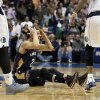 New Orleans Pelicans\' Austin Rivers (25) reaches to his head with his hands after looking for a foul call against the Dallas Mavericks as time ran in the second half of an NBA basketball game, Saturday, Jan. 11, 2014, in Dallas. The Mavericks won 110-107. (AP Photo/Tony Gutierrez)
