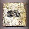 Photo - This undated publicity photo provided by Jamie Lang shows a 6-inch-by-6-inch tile piece, where Denver artist Lang painted the wax medium encaustic over an image transfer. Lang uses encaustic to give the images on his handmade, adobe tiles a nostalgic look. Encaustic is a versatile, mixed-media technique that combines pigment with hot wax, and is resurging in popularity today, though its origins date to at least the first century AD. (AP Photo/Jamie Lang)