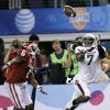 Texas A&M\'s Uzoma Nwachukwu (7) makes a touchdown catch in front of Oklahoma\'s Demontre Hurst (6) during the college football Cotton Bowl game between the University of Oklahoma Sooners (OU) and Texas A&M University Aggies (TXAM) at Cowboy\'s Stadium on Friday Jan. 4, 2013, in Arlington, Tx. Photo by Chris Landsberger, The Oklahoman