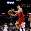 Los Angeles\' Blake Griffin (32) goes to the basket during the NBA basketball game between the Oklahoma City Thunder and the Los Angeles Clippers at the Oklahoma CIty Arena, Tuesday, Feb. 22, 2011. Photo by Bryan Terry, The Oklahoman