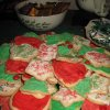 FESTIVE LOBSTER LUNCH...Christmas cookies for dessert. (Photo by Helen Ford Wallace).