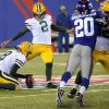 Green Bay Packers\' Mason Crosby (2) kicks a field goal during the first half of an NFL football game Sunday, Nov. 17, 2013, in East Rutherford, N.J. (AP Photo/Bill Kostroun)