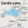 Photo - MAP / GRAPHIC: Sardis Lake - Latimer County - Pushmataha County - Yanush - Tuskahoma - Clayton