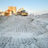 A construction crew works on replacing the dunes at 35th Ave in Longport, N.J. Thursday Nov 8, 2012 after Hurricane Sandy. (AP Photo/The Press of Atlantic City, Edward Lea) MANDATORY CREDIT