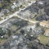 Burned houses in a Midwest City neighborhood, Friday, April 10, 2009. Photo by Bryan Terry, The Oklahoman