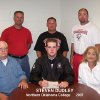 Steven Dudley, Washington High School senior, signed to play baseball with Northern Oklahoma College in Enid, on May 22, 2007. Pictured (seated l-r) father Don Dudley, Steven , mother Jill Dudley. (Standing l-r) NOC Head Coach Raydon Leaton, WHS Coach Jeff Kulbeth and WHS Head Baseball Coach David Vallerand. Community Photo By: LuGlena Moore Submitted By: LuGlena, Washington