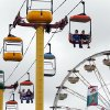 Fairgoers ride the cable cars at the 106th Oklahoma State Fair at State Fair Park on Saturday, Sept. 15, 2012, in Oklahoma City, Okla. Photo by Steve Sisney, The Oklahoman
