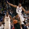 Oklahoma City\'s Russell Westbrook defends Milwaukee\'s Brandon Jennings as Kevin Durant watches during the NBA basketball game between the Oklahoma City Thunder and the Milwaukee Bucks at the Ford Center in Oklahoma City on Friday, November 27, 2009. Photo by Bryan Terry, The Oklahoman ORG XMIT: KOD