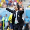 Photo - Italy's head coach Cesare Prandelli gestures during the group D World Cup soccer match between Italy and Uruguay at the Arena das Dunas in Natal, Brazil, Tuesday, June 24, 2014. (AP Photo/Antonio Calanni)