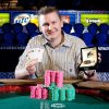 Tulsa\'s Ben Lamb with bracelet he won from $10,000 PLO championship (courtesy WSOP).