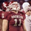 OU\'s 2003 home uniform. Worn by linebacker Teddy Lehman. PHOTO BY STEVE GOOCH, The Oklahoman Archives