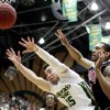 Photo -   Colorado State's Kaipo Sabas (15) and UNLV guard Anthony Marshall (3) go after a rebound during the first half of an NCAA college basketball game in Fort Collins, Colo., Wednesday, Feb. 29, 2012. (AP Photo/Jack Dempsey)