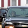 Rita Crundwell is seen in a vehicle outside of the Federal courthouse in Rockford, Ill. on Wednesday, Nov. 14, 2012. Crundwell, the former comptroller of Dixon, pleaded guilty to allegations she embezzled more than $50 million from the small city in Illinois to fund a lavish lifestyle that included a nationally known horse-breeding operation. She pleaded guilty to a charge of wire fraud and will remain free until her Feb. 14 sentencing hearing. (AP Photo/The Telegraph, Alex T. Paschal )