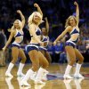 The Thunder Girls dance team performs during an NBA basketball game between the Oklahoma City Thunder and the Memphis Grizzlies at Chesapeake Energy Arena in Oklahoma City, Monday, Feb. 3, 2014. Photo by Nate Billings, The Oklahoman