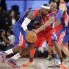 East Team\'s LeBron James of the Miami Heat is defended by West Team\'s Kobe Bryant of the Los Angeles Lakers during the first half of the NBA All-Star basketball game Sunday, Feb. 17, 2013, in Houston. (AP Photo/Eric Gay)