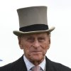 Photo -   FILE - A Saturday June 2, 2012 file photo showing Britain's Prince Philip, viewing the horses from the parade ring before the Diamond Jubilee Coronation Cup race at Epsom Derby, Epsom, southern England, Saturday June 2, 2012 the first official day of the Queen's Diamond Jubilee celebrations. Buckingham Palace says Prince Philip, husband of Queen Elizabeth II, has been hospitalized with a bladder infection. The 90-year-old prince has been taking part in celebrations of the queenís Diamond Jubilee. (AP Photo/Ben Stansall, File, Pool)