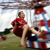Daniel Wester, 8, enjoys the swing ride during LibertyFest at UCO campus in Edmond, Okla. Saturday, July 4, 2009. Photo by Ashley McKee, The Oklahoman