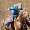 Jessica Price, from Newalla, in the Barrel Racing at the International Finals Youth Rodeo in Shawnee, Friday, July 11, 2014. Photo by David McDaniel, The Oklahoman