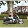 Steve Roberts is a member of the Star Chapter 378 Touring and Riding Motorcycle Association\'s north OKC chapter. Steve participated in our first portrait photo shoot and is seen here posing with the historic cantilever bridge on old Route 66 in the background at Lake Overholser. The ride theme was, It\'s not the destination that counts, It\'s the journey, and it included a ride to Guthrie for lunch and another photo shoot at the Old Red Barn in Arcadia, also on Route 66. There is no better journey than Route 66. Community Photo By: Garry Baird Submitted By: Garry, Oklahoma City