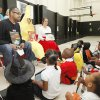 Steve Davis talks to students at MLK Elementary School in Oklahoma City, OK, about reading, during an event called Hallow-Read, Friday, Oct. 29, 2010. Hallow-Read is a Smart Start-sponsored event being conducted by Davis and other community volunteers who are trying to raise awareness in the black community about the importance of reading. By Paul Hellstern, The Oklahoman