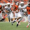 Photo - Portland State quarterback Paris Penn (15) breaks away for a 58-yard touchdown run against Oregon State during the second quarter of an NCAA college football game in Corvallis, Ore., Saturday, Aug. 30, 2014. (AP Photo/Troy Wayrynen)