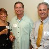 Pam and Mike Wanzer visit with Rick Johnson, right, during a grand opening and VIP reception of the Grandview apartments at Touchmark at Coffee Creek retirement community in north Edmond. The $30 million project is the first phase of the Touchmark development, which also includes 56 single-family houses in the adjacent Parkview addition. Community Photo By: Richard Hail Submitted By: Carol, Edmond
