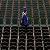 Edmond North High School students walk towards their seats during graduation ceremonies at the Cox Convention Center in Oklahoma City on Friday, May 14, 2010. Photo by Bryan Terry, The Oklahoman
