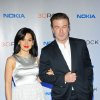 FILE - This Dec. 20, 2012 file photo released by Nokia shows Hilaria Thomas, left, and actor Alec Baldwin at the Nokia