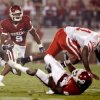 Oklahoma\'s Juaquin Iglesias (9) looks for more running room past the block by Quentin Chaney on Nebraska\'s Prince Amukamara (21) during the first half of the college football game between the University of Oklahoma Sooners (OU) and the University of Nebraska Huskers (NU) at the Gaylord Family-Oklahoma Memorial Stadium, on Saturday, Nov. 1, 2008, in Norman, Okla. BY NATE BILLINGS, THE OKLAHOMAN