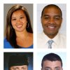 This combination of photos shows, from top row left, NCCA college basketball coach Monica Quan, USC Department of Public Safety Officer Keith Lawrence, San Bernardino Sheriff\'s Deputy Jeremiah MacKay and Riverside Police Department Officer Michael Crain, bottom row right, who were killed by rampage suspect, former Los Angeles Police Department officer Christopher Dorner. (AP Photo/Cal State Fullerton, USC Department of Public Safety, San Bernadino Sheriff\'s Department via The Press-Enterprise, Riverside Police Department)