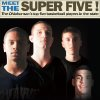 ALBUM COVER / MEET THE SUPER FIVE! The Oklahoman\'s top five basketball players in the state GRAPHIC WITH PHOTOS: 1) All-State high school basketball players, from left, Donte Foster, of Guthrie, Matt Qualls, of Tahlequah, and Lane Adams, of Red Oak, pose for a photo recreating the cover of
