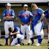 Members of the Chandler team react after their loss in the Class 3A high school baseball championship game between Chandler and Sperry in Shawnee, Okla., Saturday, May 16, 2009. Photo by Bryan Terry, The Oklahoman