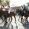 The OSU Polo team rides in the Oklahoma State Cowboy\'s homecoming parade in downtown Stillwater, OK, Saturday, Oct. 29, 2011. By Paul Hellstern, The Oklahoman