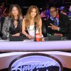 Photo -   In this Feb. 28, 2012 photo released by Fox, judges, from left, Steven Tyler, Jennifer Lopez and Randy Jackson are shown on the set of the singing competition series,